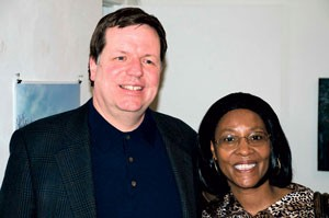 aldermen Joe Moore (49th) and Emma Mitts (37th)