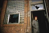 Algren in 1958, in the ruins of a bar at Bosworth and Wabansia that became the Tug & Maul in The Man With the Golden Arm - ART SHAY