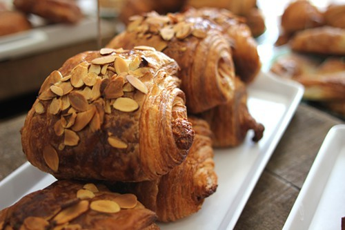 Almond croissants at Beurrage