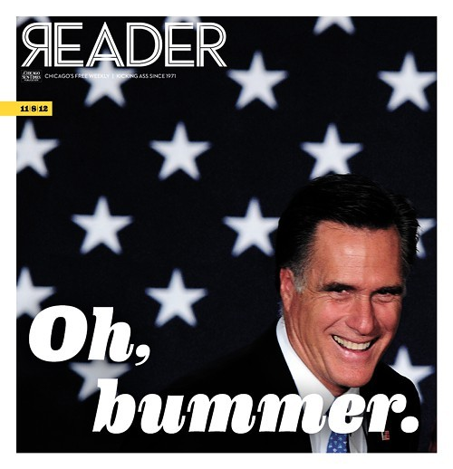 Alternative cover photo Romney elected president: Oh, Bummer