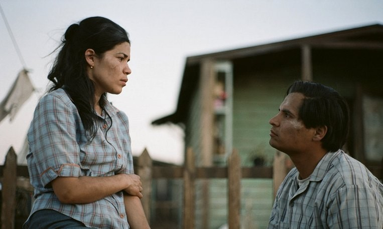 America Ferrera and Michael Pena in Cesar Chavez