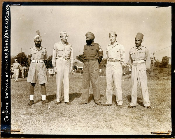 American and Indian soldiers at ease. For more photos from Zbiral and Teller's collection scroll to the bottom of this page. - COURTESY JERRI ZBIRAL AND ALAN TELLER