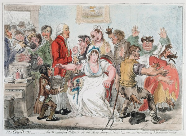 "An ""antivaxxer"" political cartoon from 1809 - GETTY IMAGES"