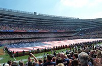 An instant of silence at Soldier Field
