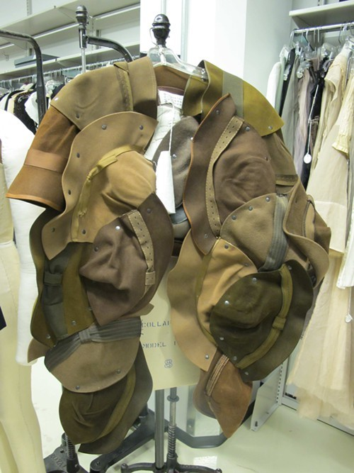... and a Margiela cape made out of vintage hats