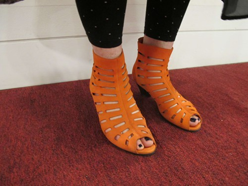... and her shoes by Arche.