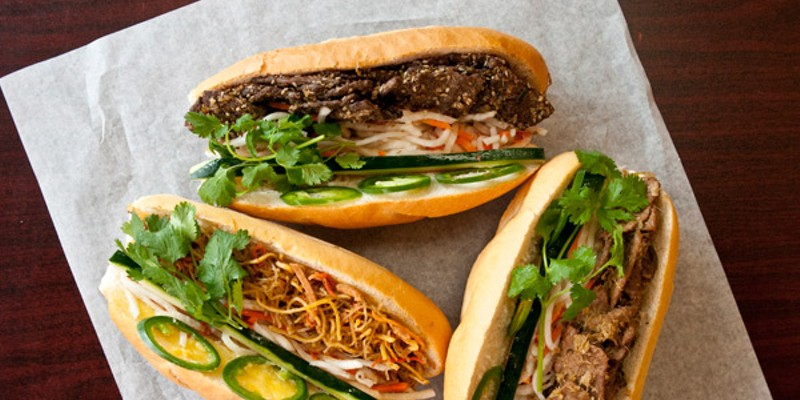 """Five favorite vegetarian meals at nonvegetarian restaurants """"If you want to get me started on a sandwich rant, the shit they do with tofu on the Banh Mi at Nhu Lan Bakery is positively psycho. Plus they have amazing smoothies.""""  —Trevor Shelley-de Brauw, local musician in Pelican, Chord, and Let's Pet Andrea Bauer"""