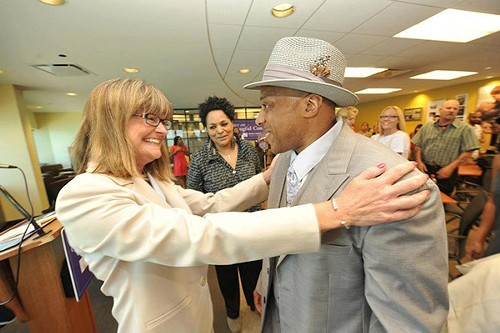Andre Davis with Jane Raley, the Center on Wrongful Convictions attorney who worked to free him