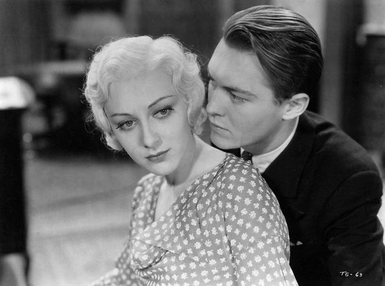 Ann Dvorak and Lee Tracy in The Strange Love of Molly Louvain, which screens tomorrow at the Patio Theater