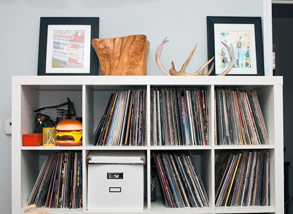 Antlers, records, and a hamburger bank - ANDREA BAUER