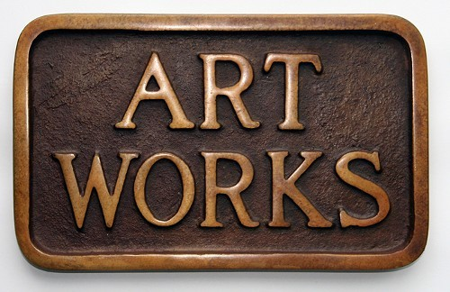 Art Works (Sidewalk Plaque) by Stephen Kaltenbach