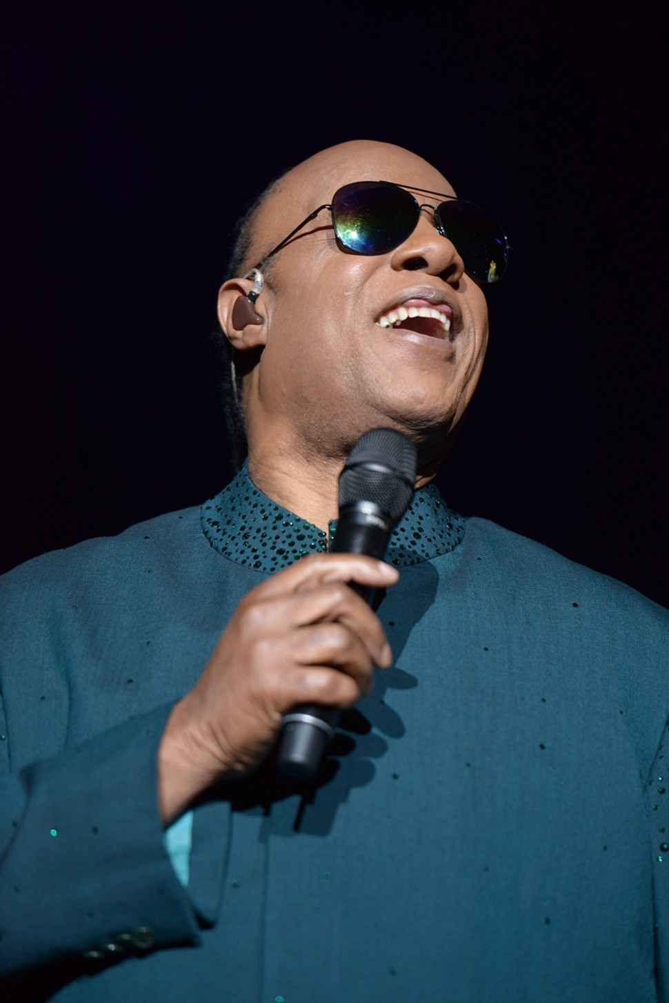 At first, without the Afro and the facial hair, he doesnt look all that much like the Stevie Wonder I remember. But then he smiles!