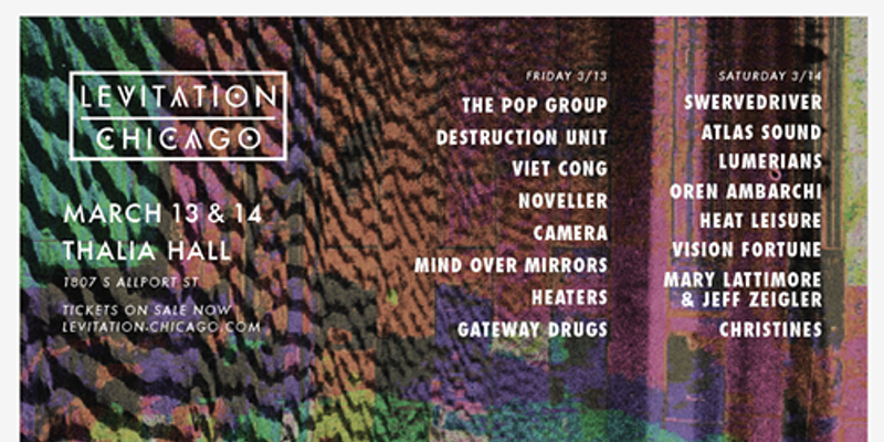 Atlas Sound and others added to the already insane Levitation Chicago lineup