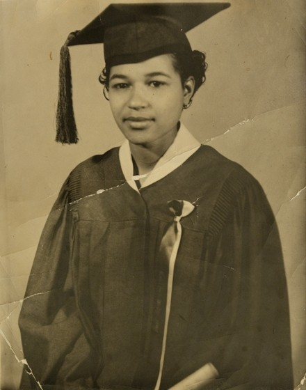 Banks in 1944, at her graduation from Wendell Phillips High School