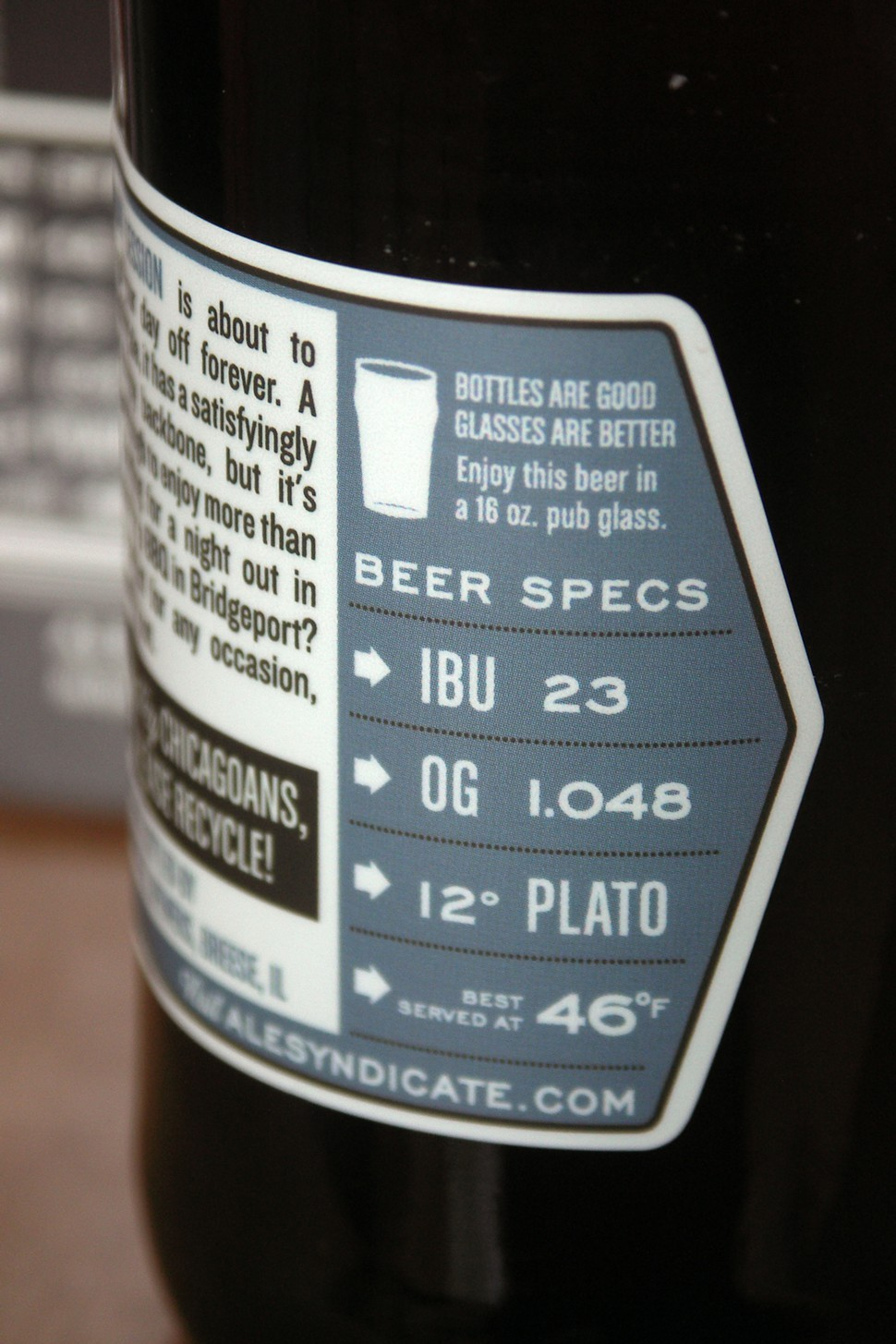 Beer specs--not the same as beer goggles