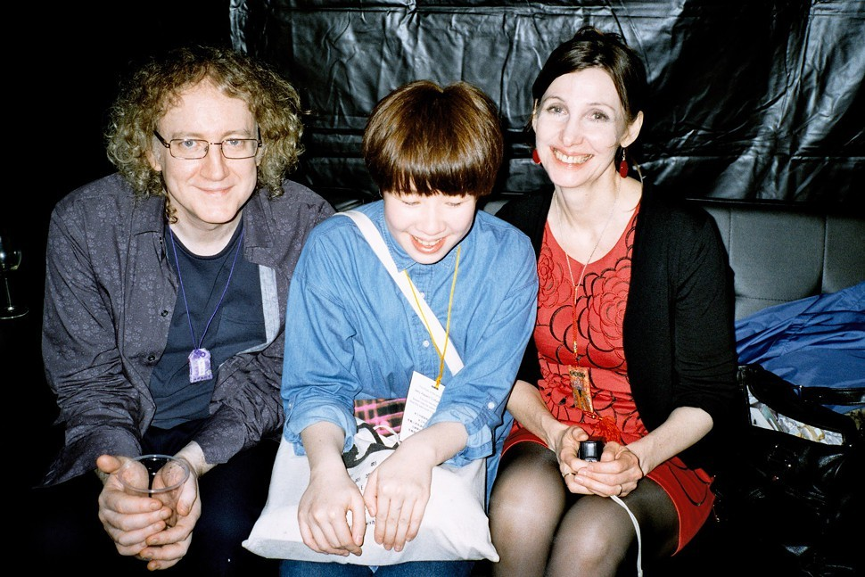 Ben Ben of Taiwanese band Skip Skip Ben Ben with Kevin Shields and Bilinda Butcher of My Bloody Valentine