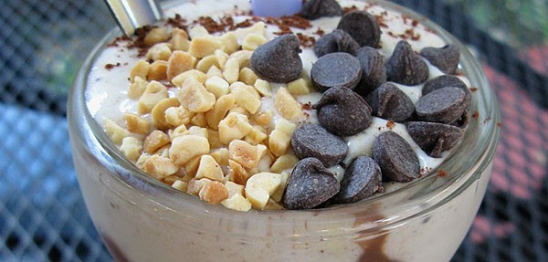 Best Vegan Nosh: Chocolate Chip Cookie Dough Peanut Butter Vegan Milkshake at Chicago Diner