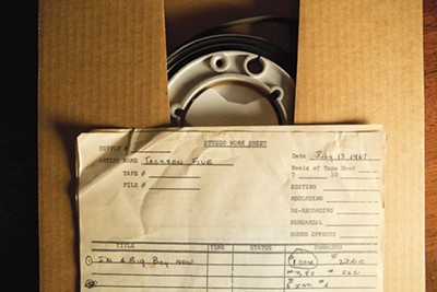 """Big Boy"" reel and studio worksheet from One-derful Records - JIM NEWBERRY"