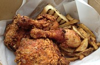 Big chicken at Smalls Smoke Shack