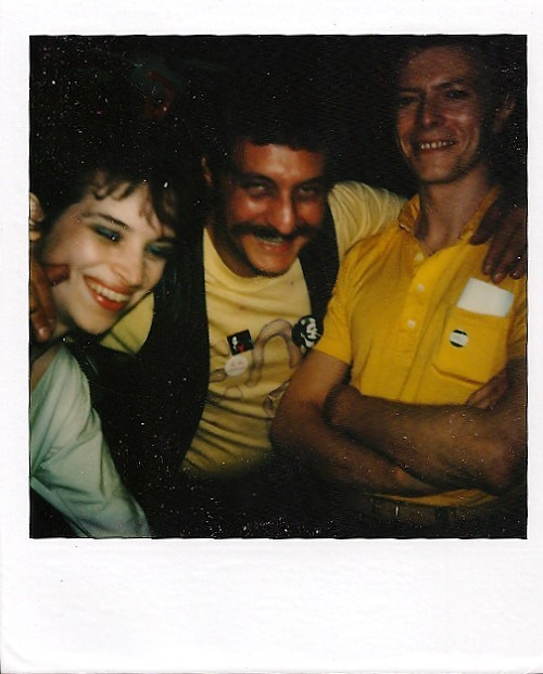 Bowie at Neo in August 1980 with Noni Martin and Noah Beadreaux