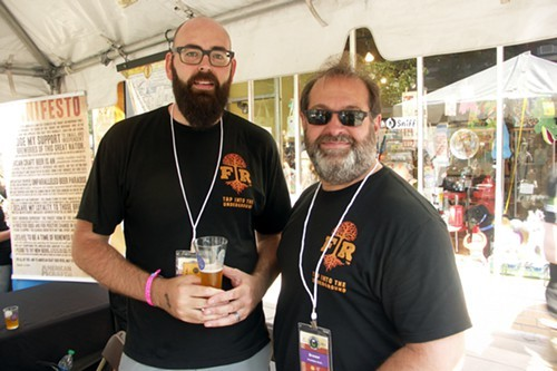 Brewer B.J. Pichman and root master Robert Finkel of Forbidden Root