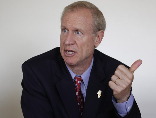 Bruce Rauner pledges to lower Illinois taxes.