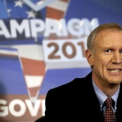Bruce Rauner secured an endorsement from the Sun-Times.