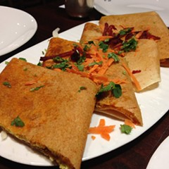 capsicum chilly garlic dosa, Sankalp