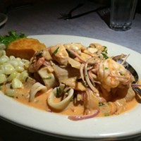 The ceviche mixto at Logan Square's Ceviche lights up the night