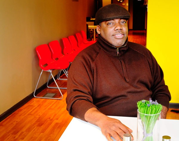 Chet Jackson, executive director of the West Humboldt Park Development Council, at the neighborhood's new restaurant, Turkey Chop
