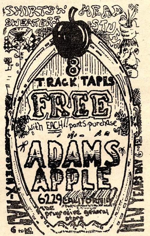 Chicago Reader @ Forty ads from the past: Adams Apple, 6229 N. California