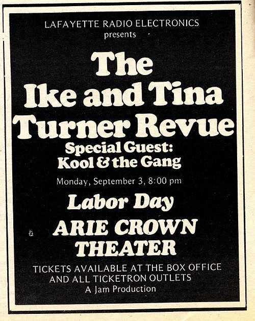Chicago Reader @ Forty ads from the past: Arie Crown Theater, Ike and Tina