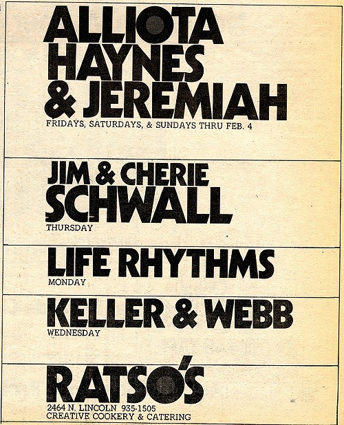 Chicago Reader @ Forty ads from the past: Ratsos