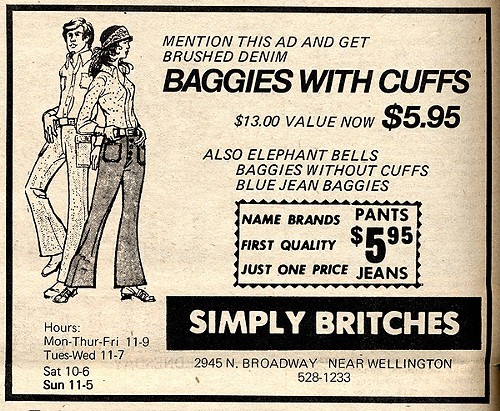 Chicago Reader @ Forty ads from the past: Simply Britches
