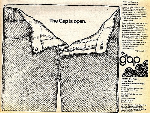 Chicago Reader @ Forty ads from the past: The Gap