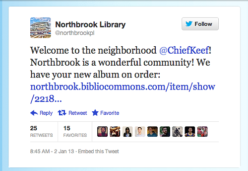 NorthbrookLibraryKeefTweet.png