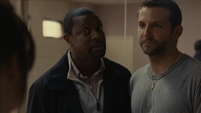 Chris Tucker and Bradley Cooper in Silver Linings Playbook
