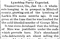 Chronicle of a Lynching Foretold