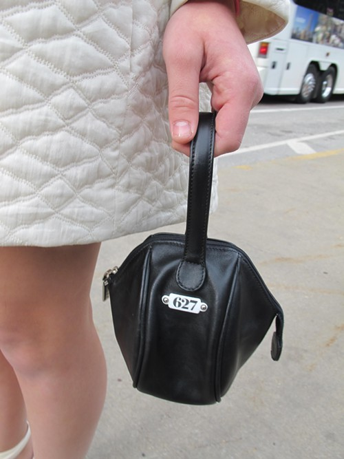 Claires bag is a vintage lens case!