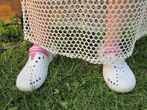 Claires Crocs inspired shoes