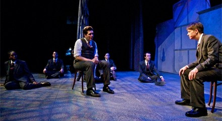 Colm OReillys Stanislavski confers with his doppelgangers in An Actor Prepares