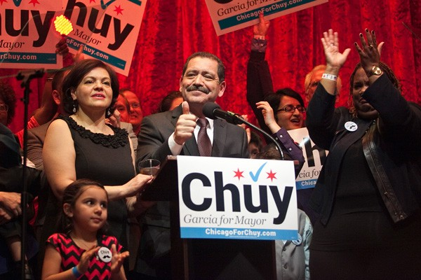 "County commissioner Jesus ""Chuy"" Garcia will go one-on-one against Mayor Emanuel. - ASHLEE REZIN/FOR SUN-TIMES MEDIA"