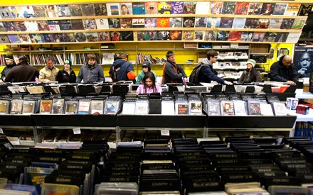 Customers at 2nd Hand Tunes in Evanston wait for a midnight sale on Record Store Day 2012.