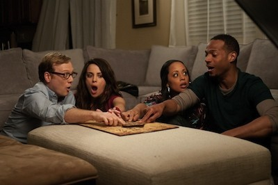 Daly, Ubach, Atkins, and Wayans in A Haunted House