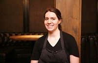 Gilt Bar's Danielle Lewis makes a multi-component chamomile dessert