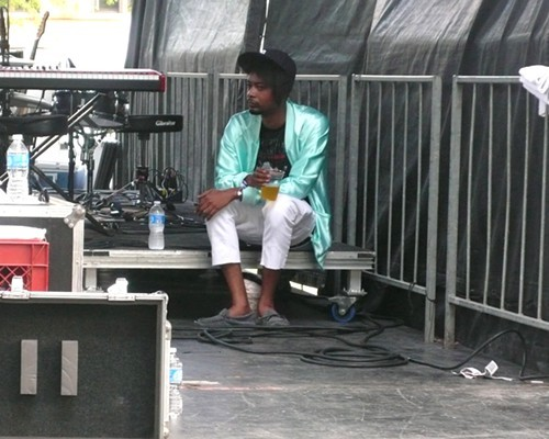 Danny Brown between songs during Das Racists Pitchfork set