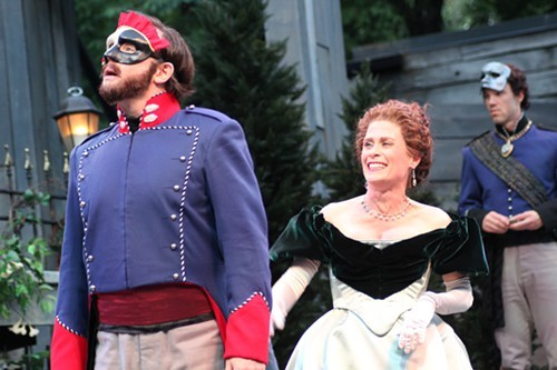 David Daniel, Colleen Madden, and Eric Parks in Much Ado About Nothing