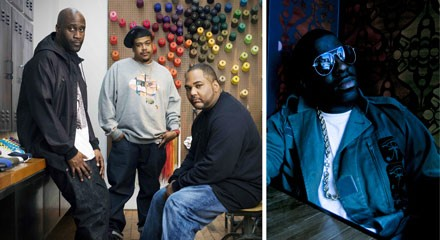 De La Soul (at left) and Rhymefest (right)