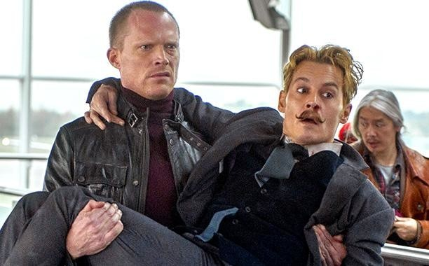 Depp and manservant Jock (Paul Bettany) in Mortdecai