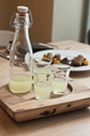 Diners are bid farewell with a complimentary glass of house-made limoncello.